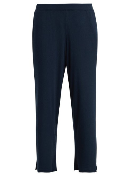 cropped navy pants