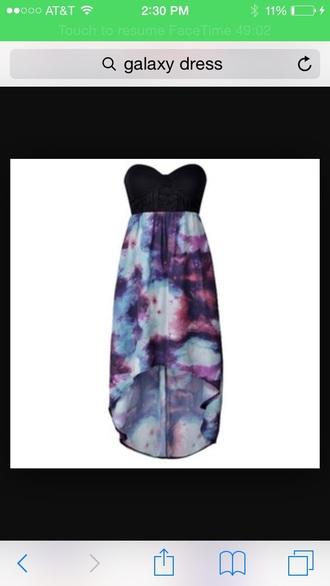dress galaxy dress tie dye