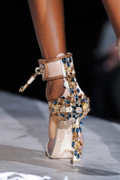shoes,jeweled sandals,embellished sandals,sandals,high heel sandals,nude sandals,prom shoes
