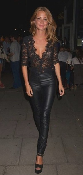cca7858dc48d16 shirt lace blouse black pants top sexy girl classy millie mackintosh 3/4  sleeve fancy