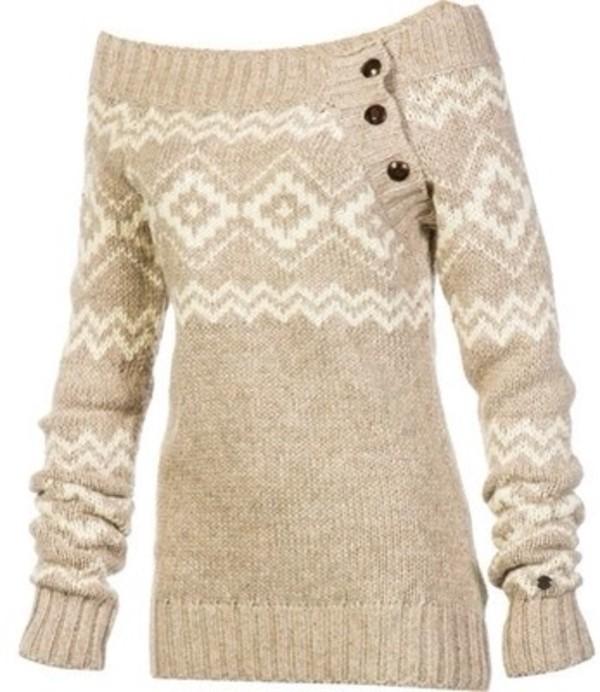 sweater baige christmas sweater winter sweater