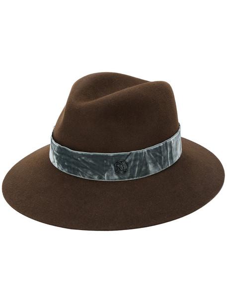 hat velvet brown