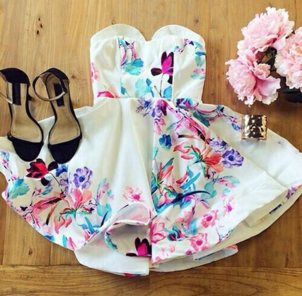 47b8032393a6 dress white dress watercolor dress watercolour dress fancy white prom dress  short prom dress