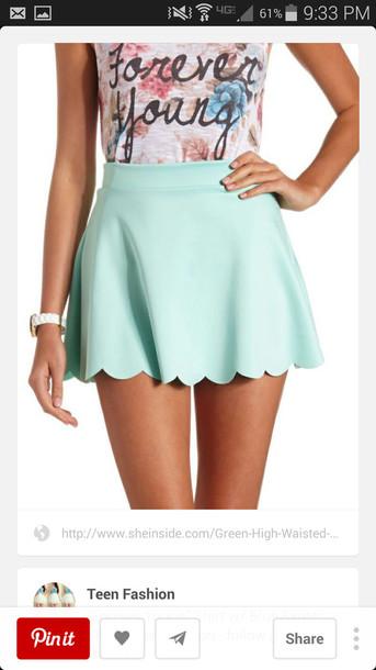 tiffany blue skirt skirt perfect mint trendy skater skirt mini skirt shirt