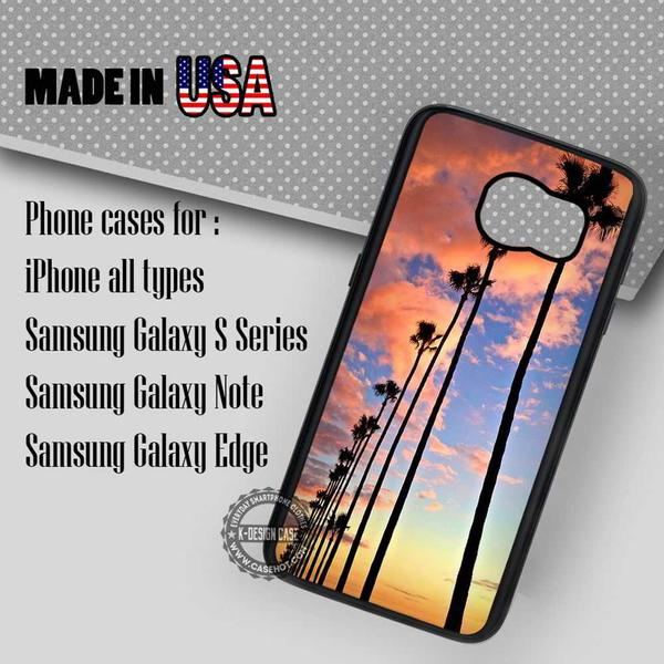 Samsung S7 Case - Sunset California Trees- iPhone Case #SamsungS7Case #art #yn