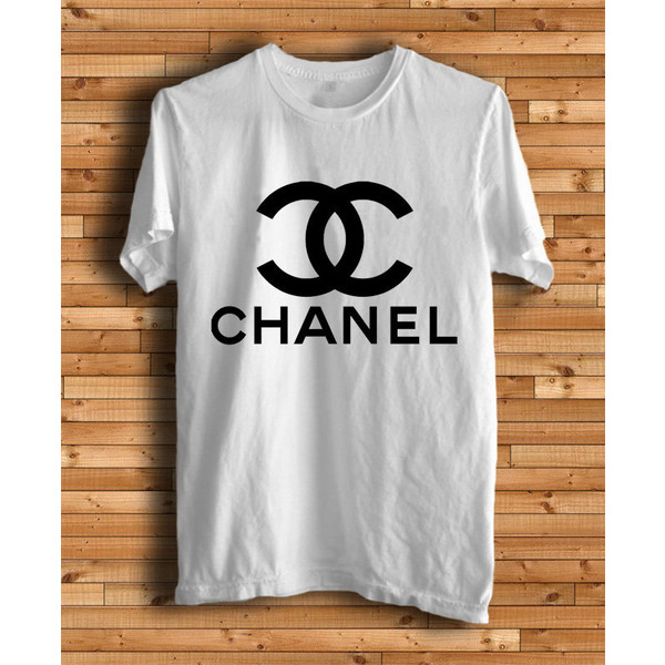 New chanel logo men white t shirt tee size s xxxl ch1 for Chanel logo t shirt to buy