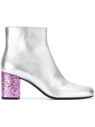 boots ankle boots metallic shoes