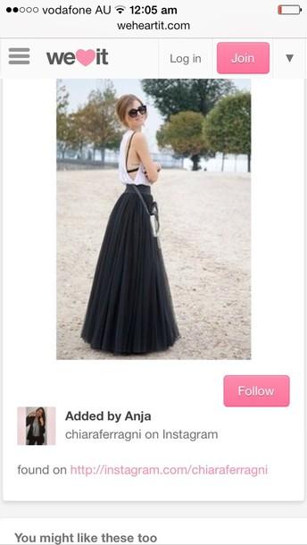 skirt tulle skirt pleats pleated skirt flowing black skirt high waisted maxi skirt maxi skirt