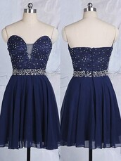 dress,short prom dress,fashion,navy,style,sparkle,strapless,sexy,short homecoming dress,dressofgirl