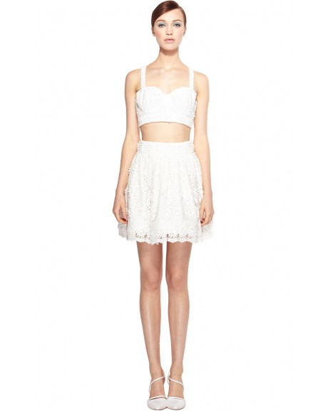 Azieb Crochet Lace Bra Top | Tops | Alice   Olivia