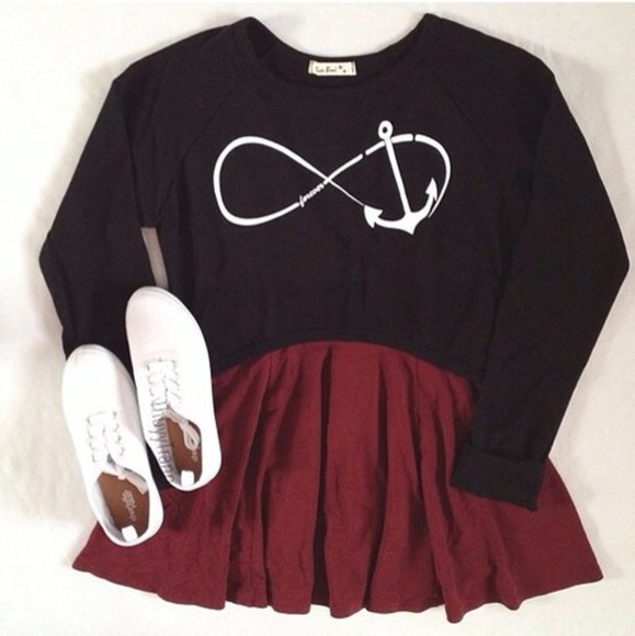 forever cute love infinity shirt black sign girly