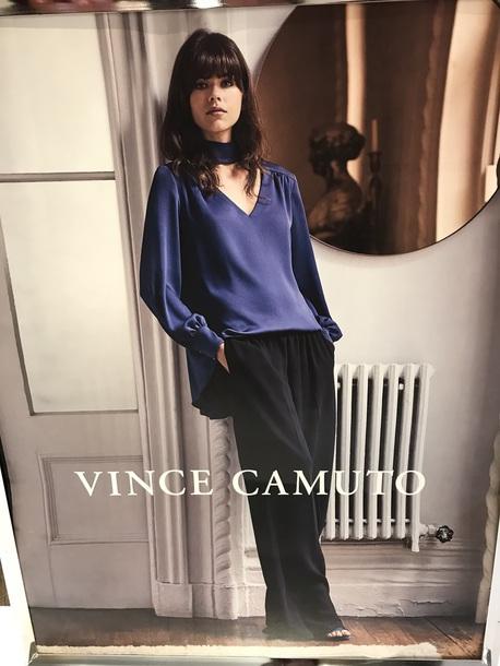 blouse deep blue blouse vince camuto