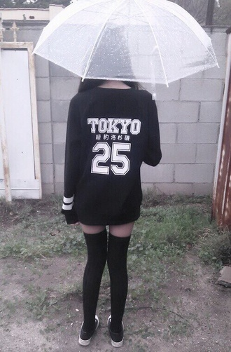dress long shirt kawaii japan pale goth pastel umbrella tokyo socks jewels shirt long sleeves black fashion japanese shirts japanese fashion sweater japanese 25 tokyo fashion white japanese writing kawaii grunge soft grunge