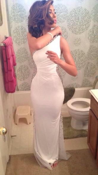 dress prom sparkle white white dress sparkle dress prom dress long prom dress