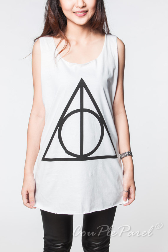 Deathly hallows tops harry potter movie shirts by coupleparel