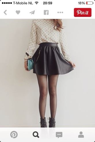 skirt leather skirt pinterest
