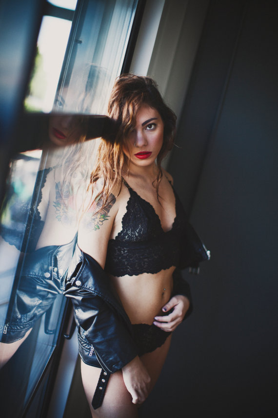 lace cheeky boyshorts and soft bralette set by lingeriedaydream