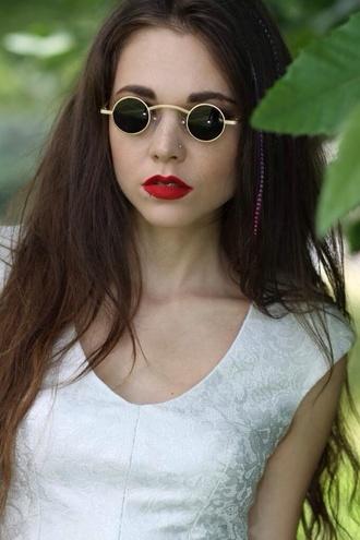 sunglasses sunglasses vintage vampire round