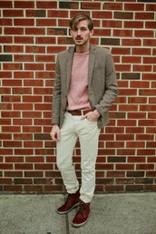 fashion goggled,blogger,menswear,mens blazer,jacket,sweater,shoes,mens straight jeans,mens derby shoes