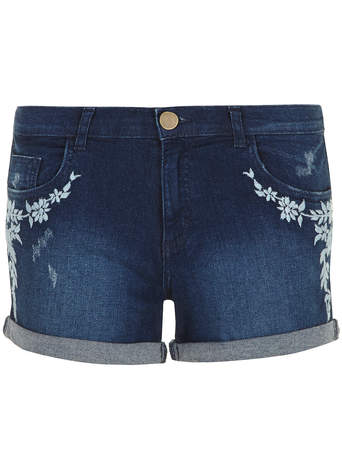 Mid Floral Embroidered shorts - Jeans - Clothing - Dorothy Perkins