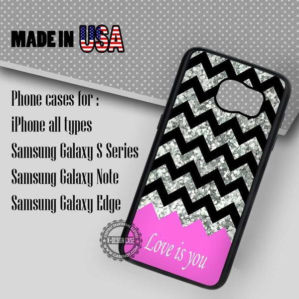 Samsung S7 Case - Transparent Glitter Chevron- iPhone Case #SamsungS7Case #art #yn