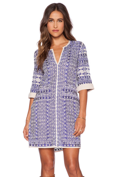 Love Sam dress embroidered dress embroidered blue