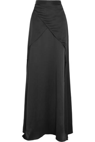 skirt maxi skirt maxi silk satin black