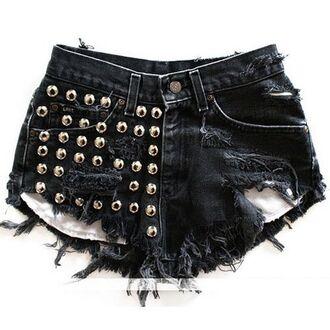 shorts studded studded shorts denim shorts