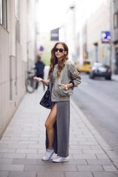 skirt,grey,long skirt