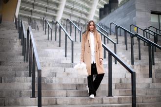 fashion agony blogger coat shirt pants shoes bag
