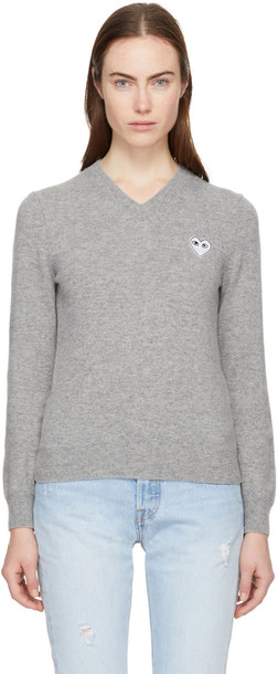 Comme Des Garcons Play sweater heart grey