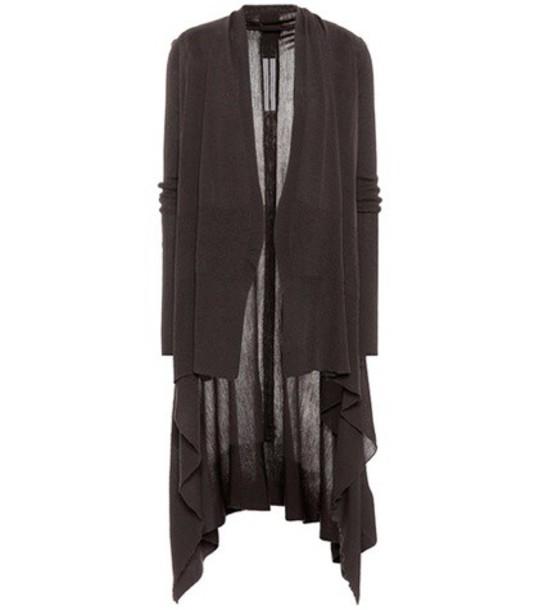 Rick Owens cardigan cardigan wool brown sweater