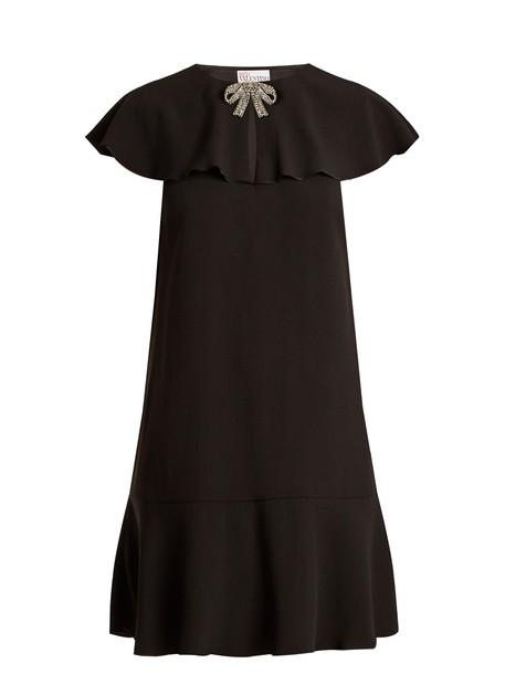 REDValentino dress bow embellished black