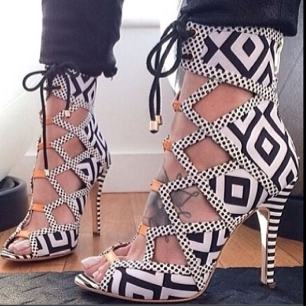 shoes aztec print shoes open toes