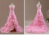dress,wedding dress,wedding clothes,wedding,wedding accessories,rose,roses,flowers,pink,pink dress,girly,girl,girly wishlist,love,jewels,diamonds,engagement ring,sparkle,sparkly dress,fashion,style,cute,cute dress,ball gown dress,mermaid,sexy dress