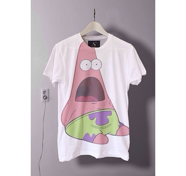 shirt patrick spongebob patrick star tumblr tumblr clothes tumblr girl indie vans hippie goth hipster pastel goth floral converse high heels High waisted shorts h&m