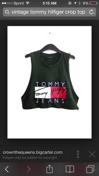 tommy hilfiger crop top tommy hilfiger vintage top clothes crop tops online dark green fashion green