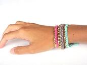 jewels,chain,delicate,gold,bracelets,threads,coton,friendship bracelet,hipanema,cuff