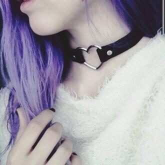 jewels necklace choker necklace grunge pop punk rock alternative