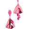 Oscar de la renta small impatiens clip on earrings