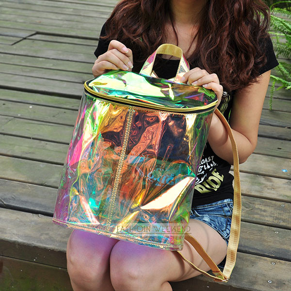 bag laser holographic iridescent bag