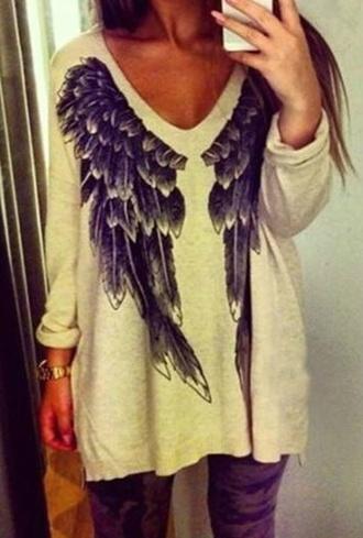 sweater wings cardigan beige