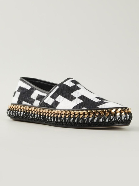 shoes versace runway woven martian checkered espadrilles
