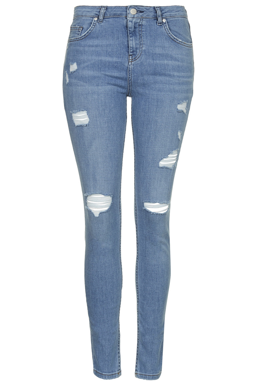 Moto bleach authentic ripped jeans