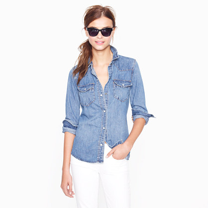 denim shirt - casual shirts - Women's shirts & tops - J.Crew