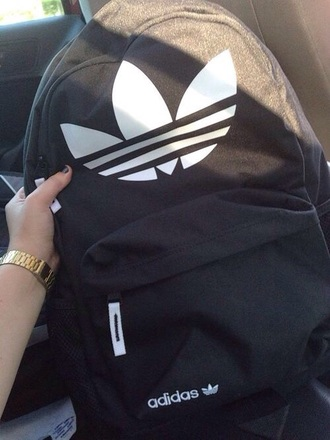 bag adidas backpack black white school bag back to school