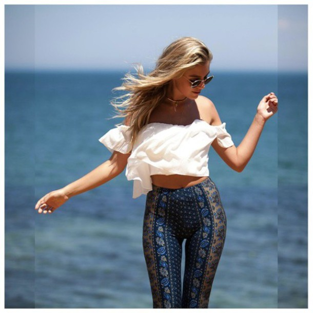 610x610 Pants Fashion Style Hippie Boho Bohemian Pants Bohemian