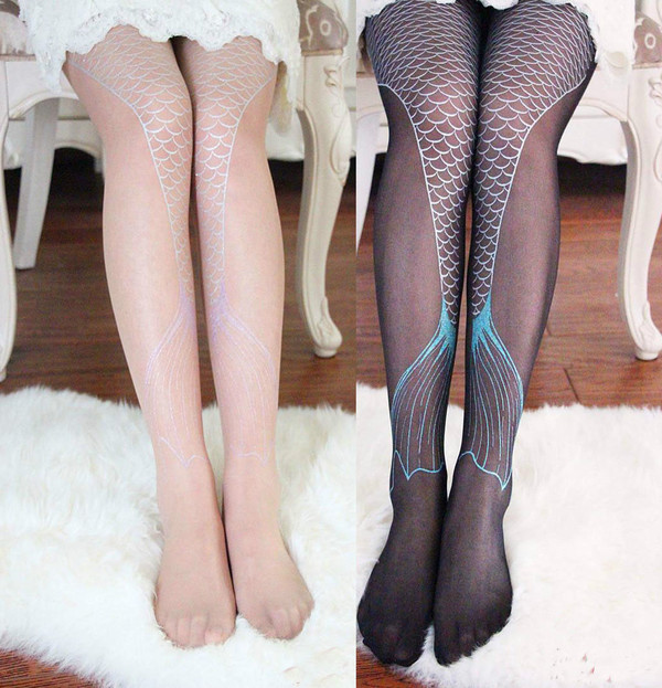 tights mermaid mermaid socks cute