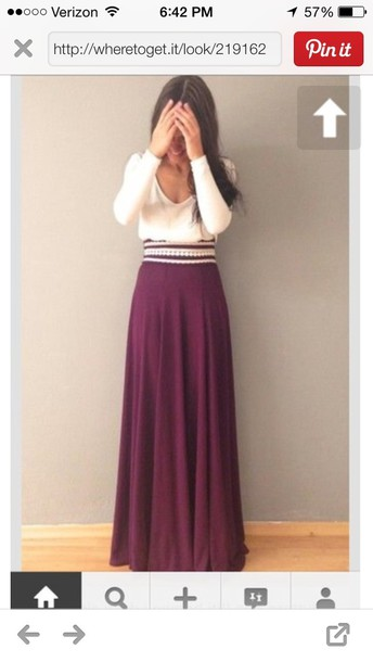 dress burgundy white sweater skirt colorful