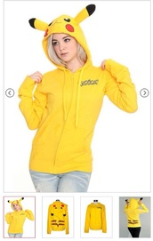 jacket,sweatshirt,hoodie,yellow,pokemon,pikachu,pika,otaku,japan,zip,hoodied